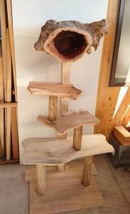 木製キャットタワー